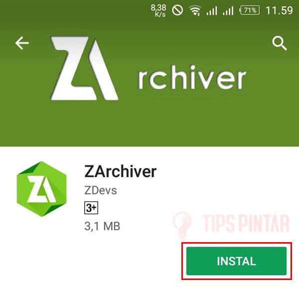 Install ZArchive