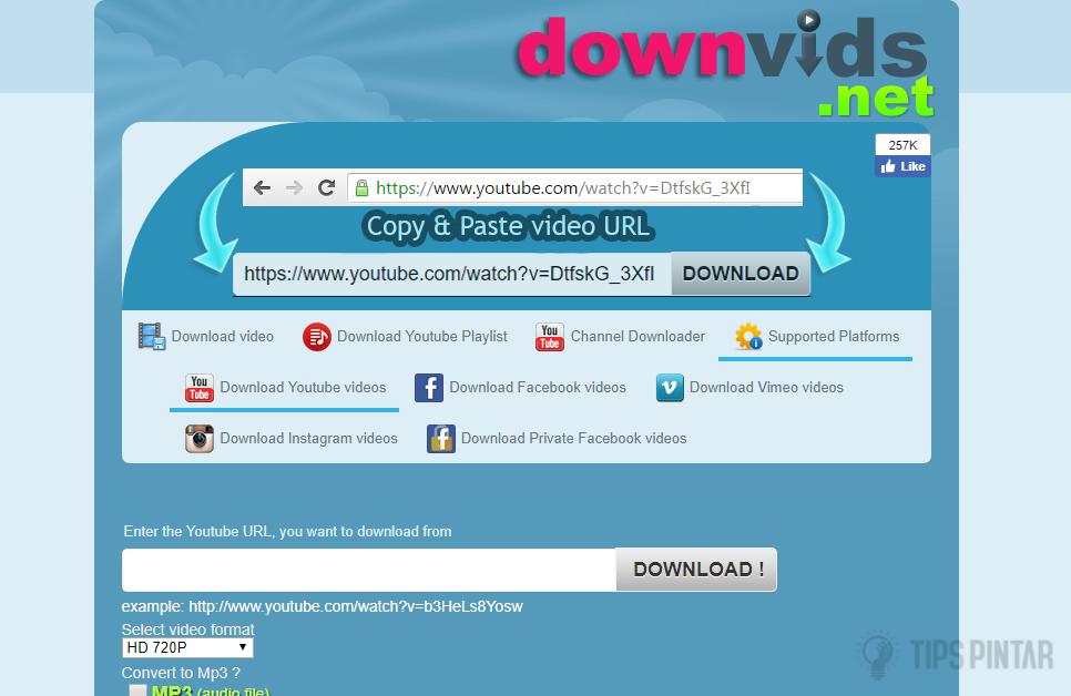 Masuk ke downvids.net