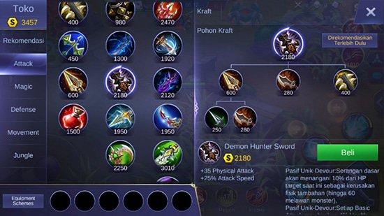 Demon Hunter Sword - Item Mobile Legends