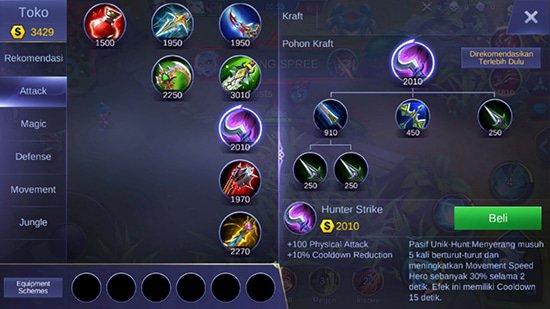 Hunter Strike - Item Mobile Legends