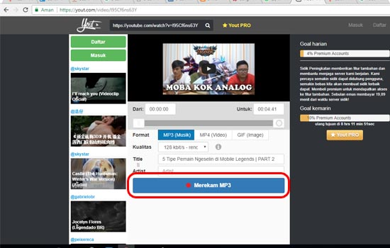 Pilih Format Video