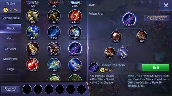 Scarlet Phantom - Item Mobile Legends
