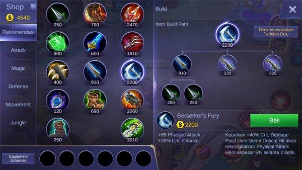 Berserker's Fury - Item Mobile Legends
