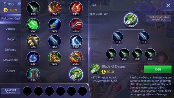Blade of Despair - Item Mobile Legends