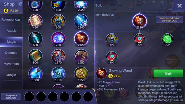 Glowing Wand - Item Mobile Legends