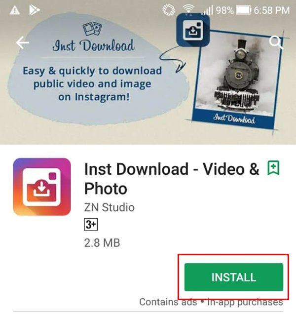 Install Insta Download