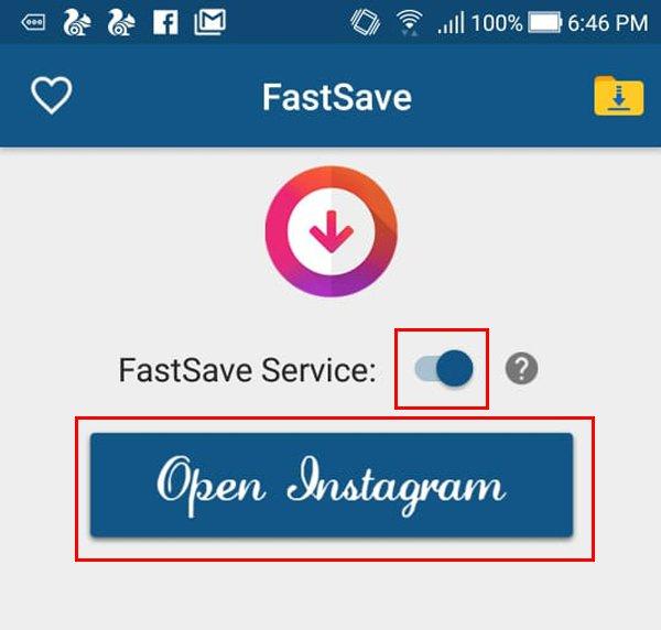 Pilih Open Instagram