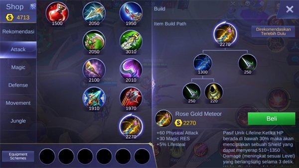 Rose Gold Meteor - Item Mobile Legends