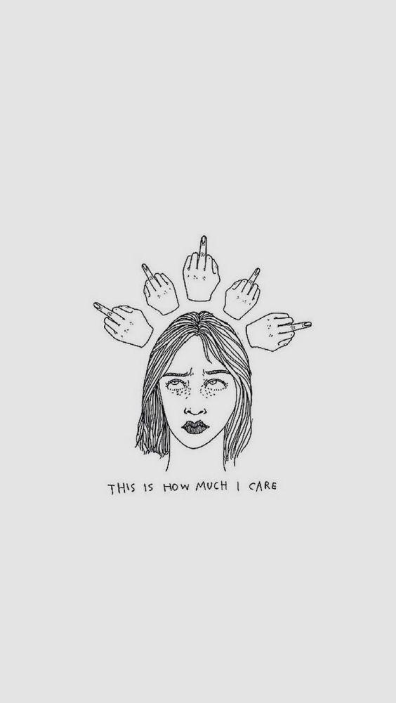 Girl's Middle Finger